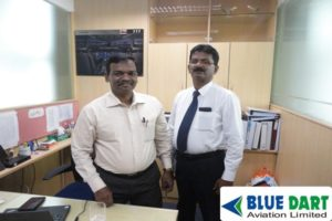 Mr.George Manager Security and Cheif Instructor DG Goods with Mr.Ramesh K